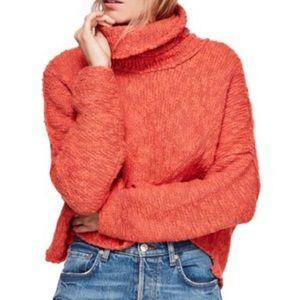 Free People Big Easy Cowl Neck Crop Sweater Sz.XS